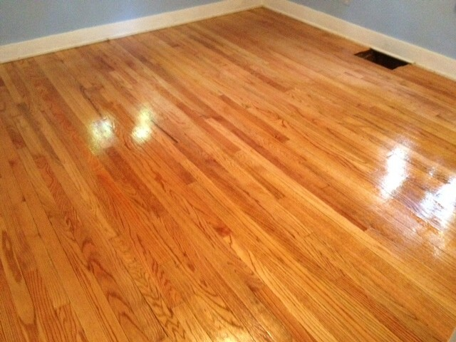 updated hardwood floor that was refinished by Fabulous Floors Pittsburgh