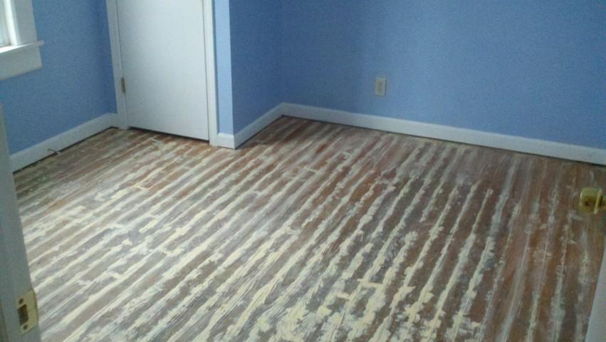 completely destroyed hardwood floor