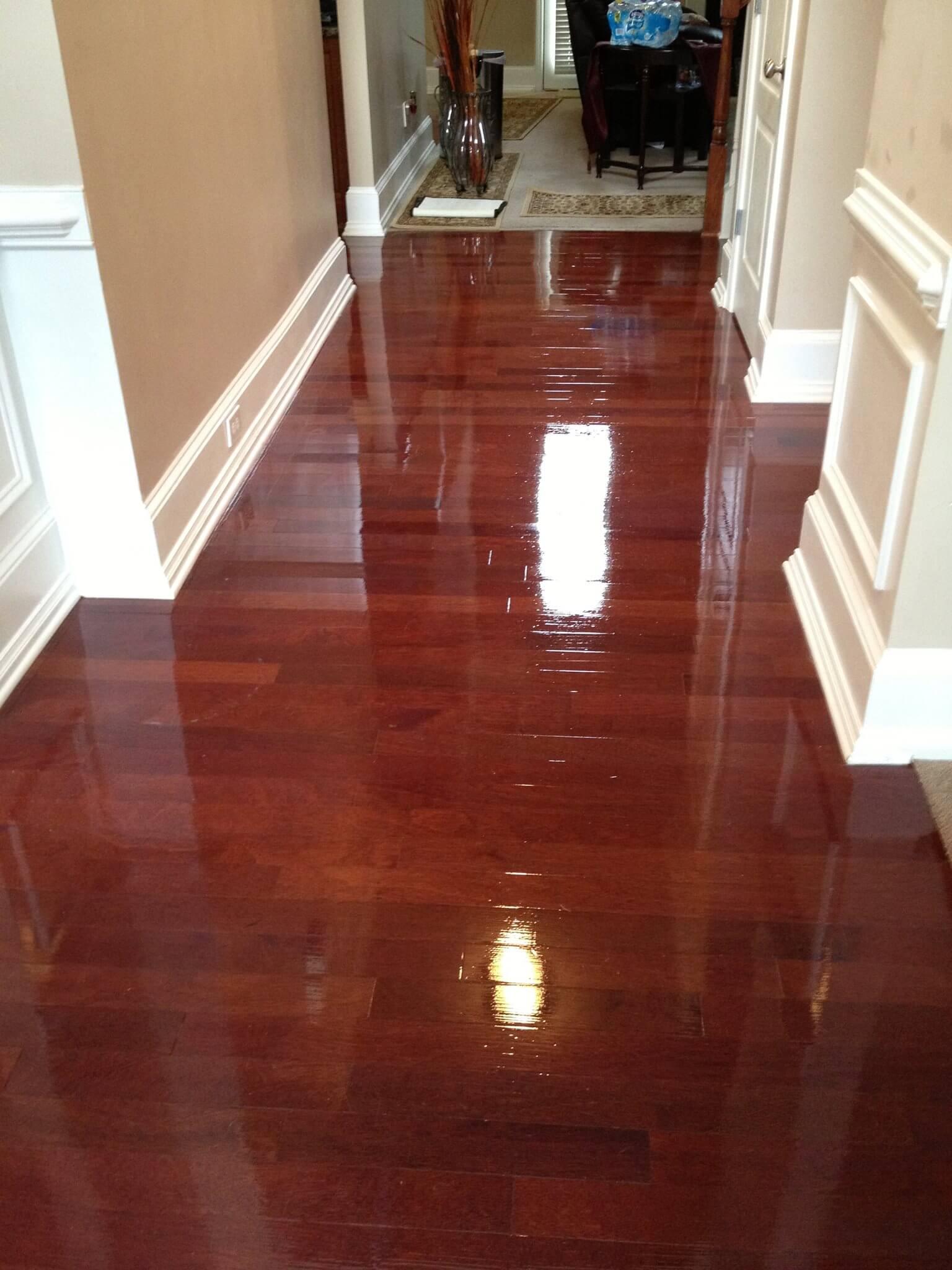 Hardwood floor renewal