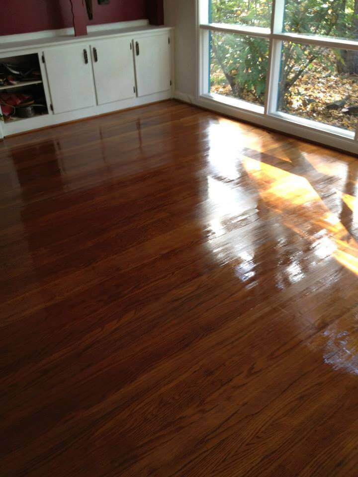 a floor after being refinished by Fabulous Floors
