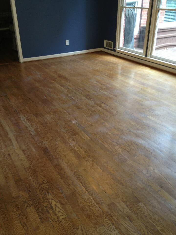 lightly damaged hardwood floors with a few scratches