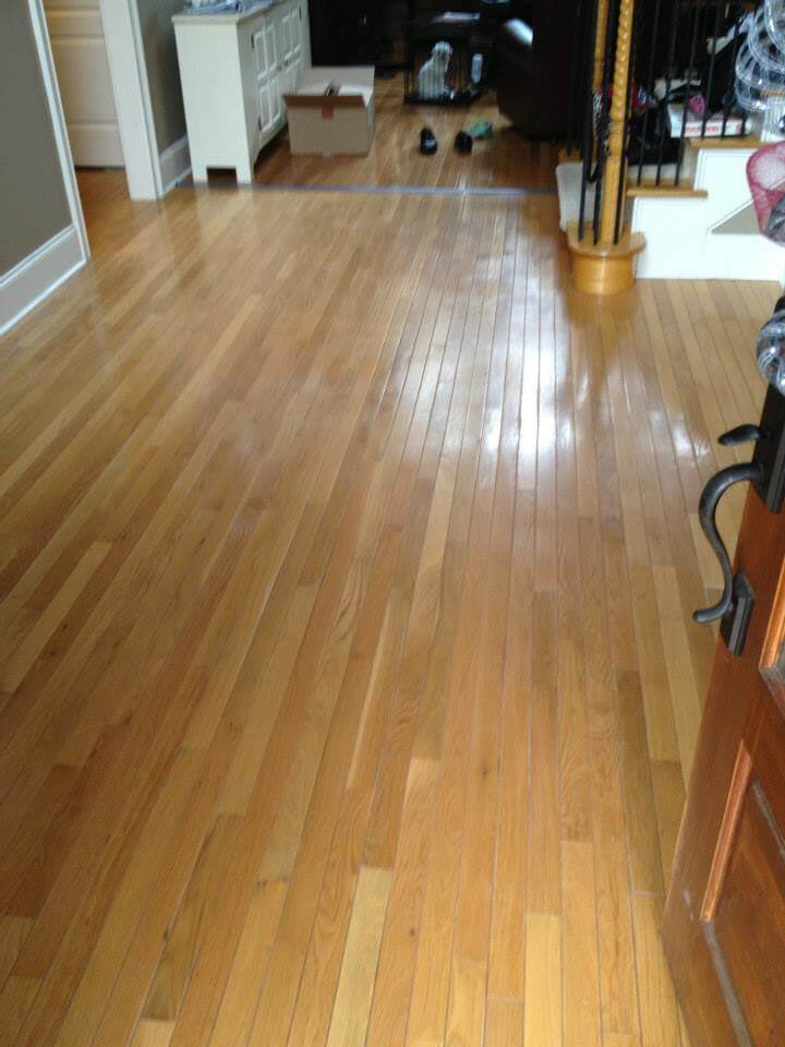 a slightly used and abused hardwood floor surface.