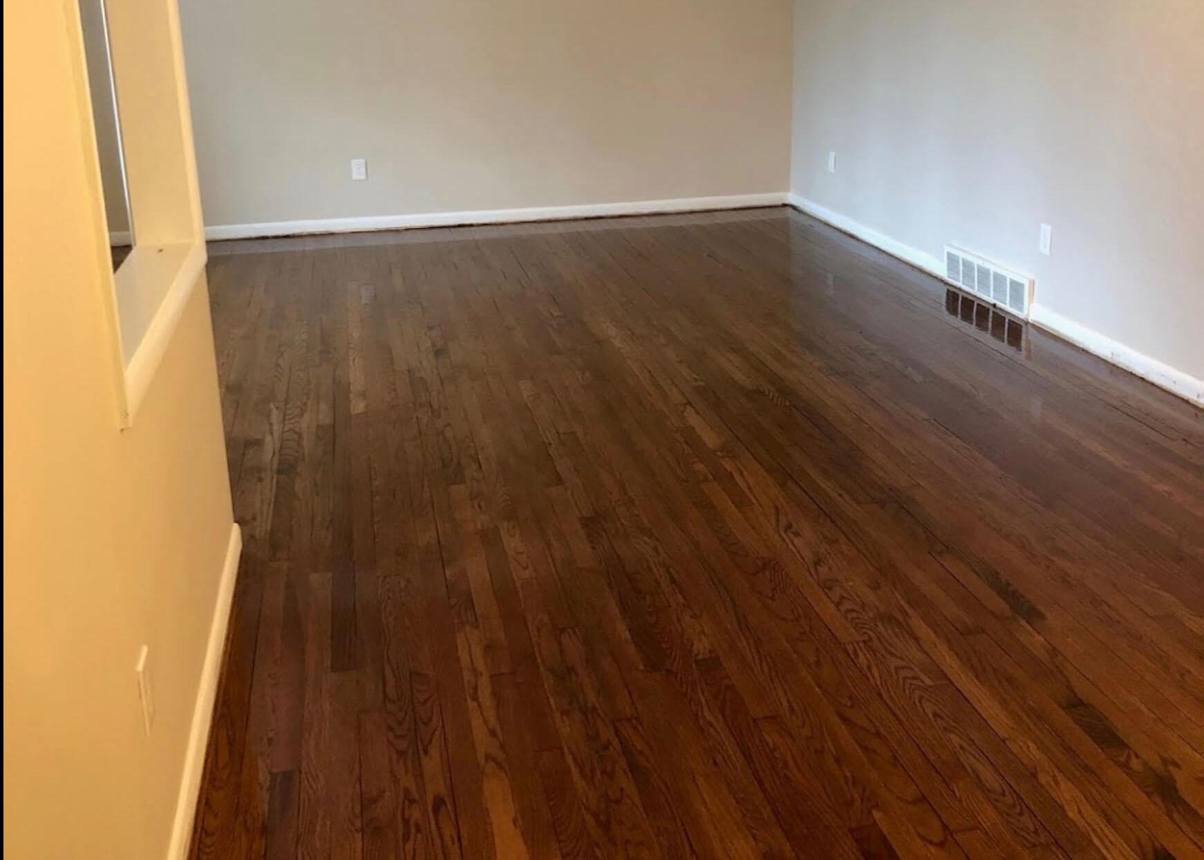 after wood floor resurfacing