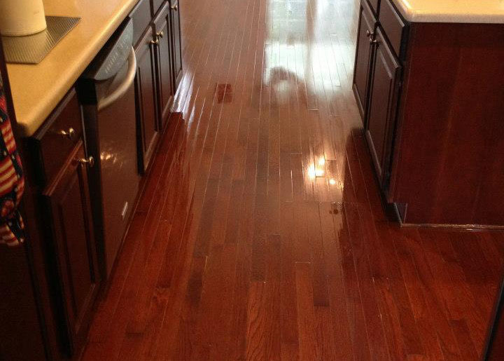 after wood floor refinishing