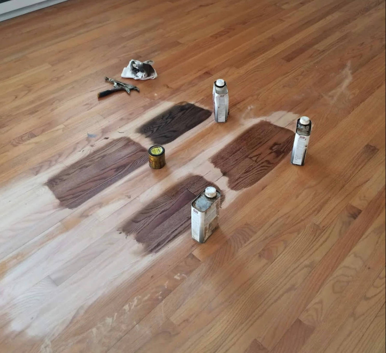 Hardwood floor staining in pittsburgh, pa