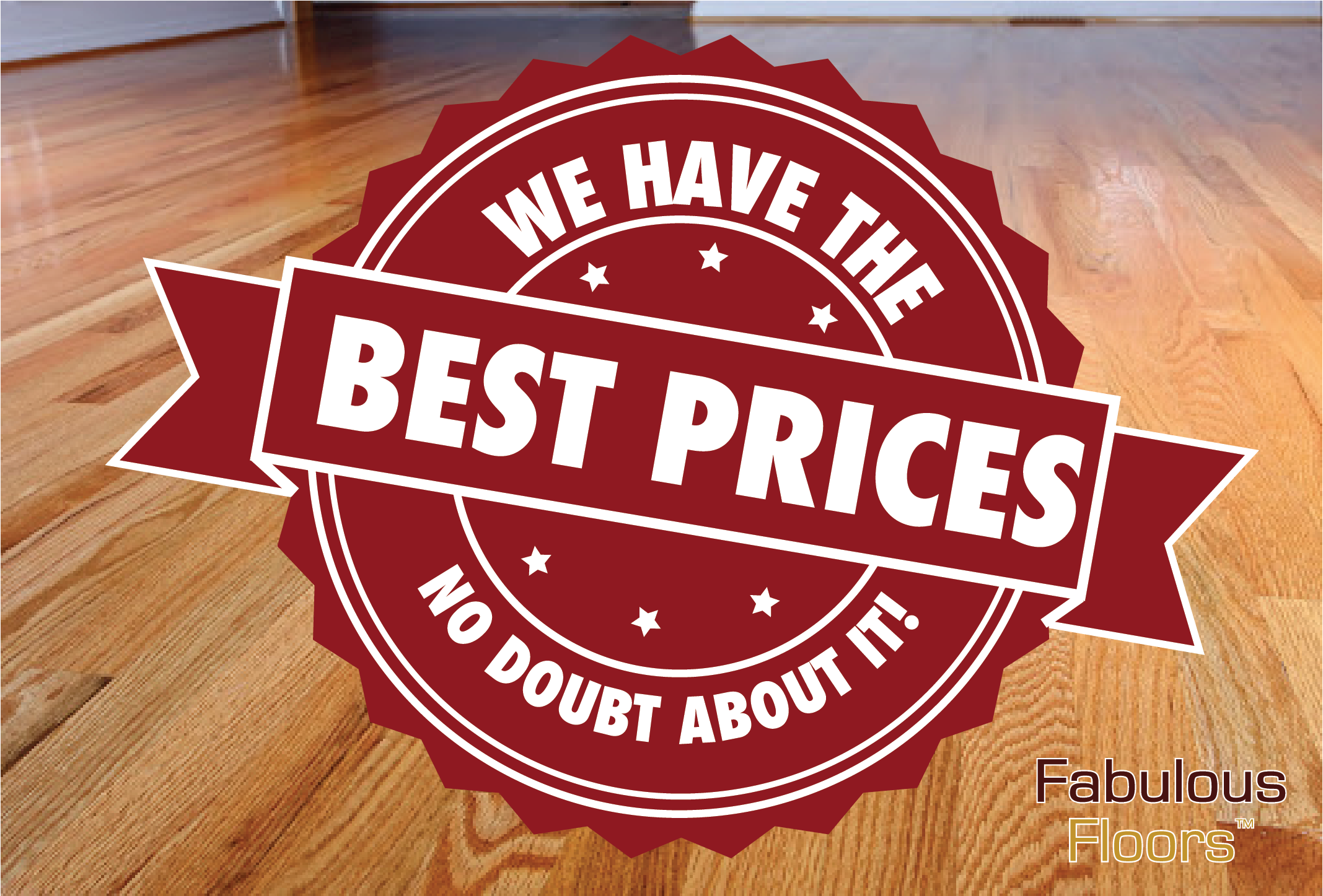 A graphic saying we have the best prices around, no bout about it.